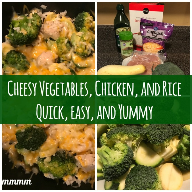 Cheesey rice and veg quick easy delicious yummy
